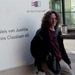 Jeroen (voorzitter Handelbladcomplex) bij het Paleis van justitie op  2 december 2013